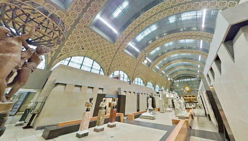 奧賽美術館內部。圖/取自Google Art Project。