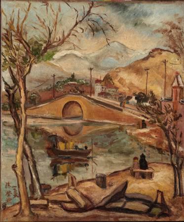 陳澄波,《清流》,圖/取自臺北市立美術館。