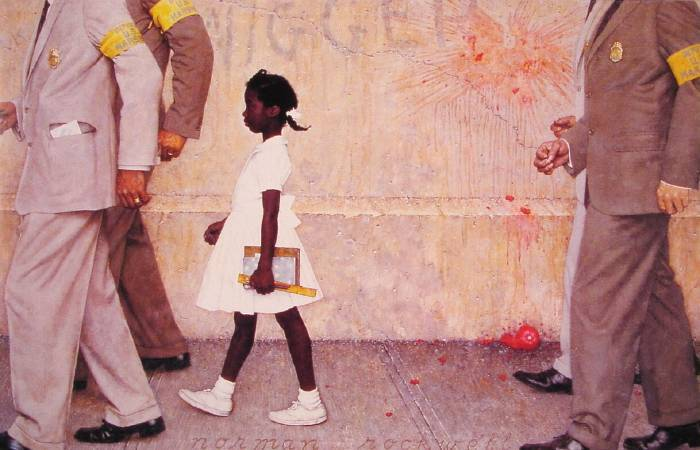 Norman Rockwell ,《The problem we all live with 》