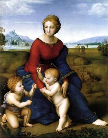 Raffaello Sanzio,《Madonna del Prato》。圖/取自wikipedia。