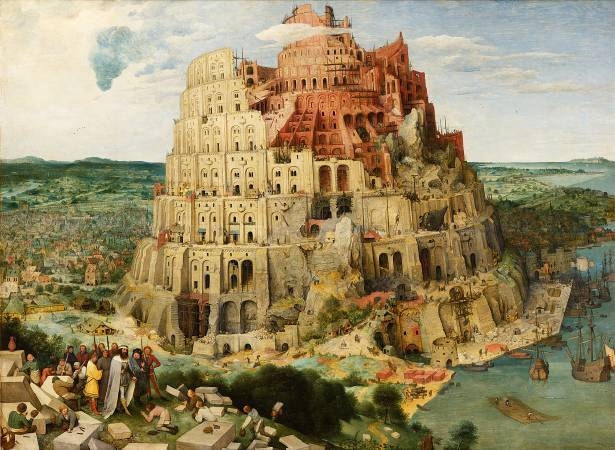 Pieter Bruegel the Elder,《The Tower of Babel》。圖/取自wikipedia。