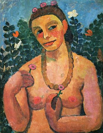 Paula Modersohn-Becker,《Self-Portrait》。圖/取自維基百科。