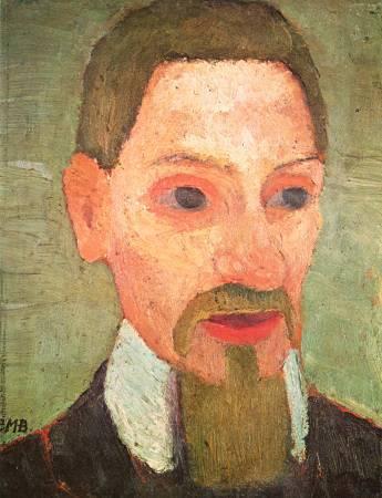 Paula Modersohn-Becker,《Rainer Maria Rilke》。圖/取自維基百科。