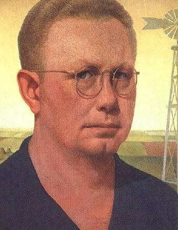 伍德《自畫像》(Self-portrait),1932。圖/取自維基百科。