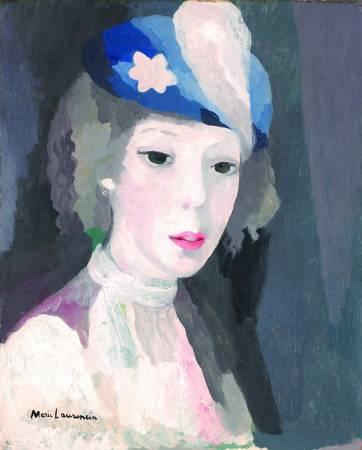 羅蘭珊,《戴帽自畫像》。