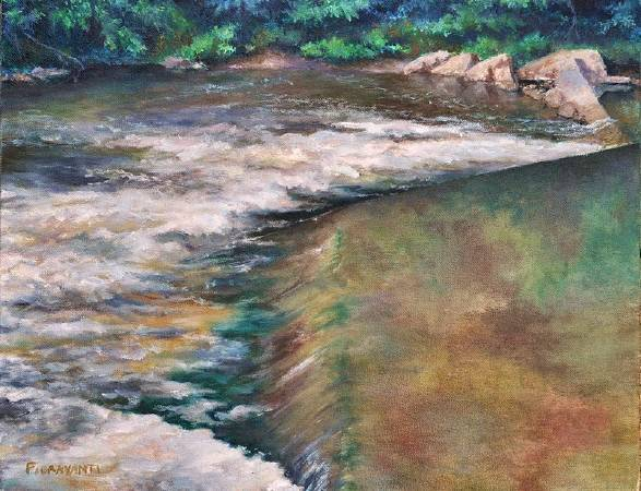 Jeff Fioravanti,《Turmoil, Antietam Creek (Antietam National Battlefield)》。 圖/取自PAINTING THE SOUL OF AMERICA。