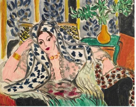 馬蒂斯《黑色椅子上的宮女》。圖/取自Art Russian Painter。