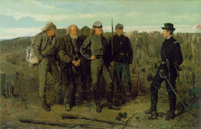 荷馬《來自前線的犯人》(Prisoners from the Front),1866。圖/取自wikiart。