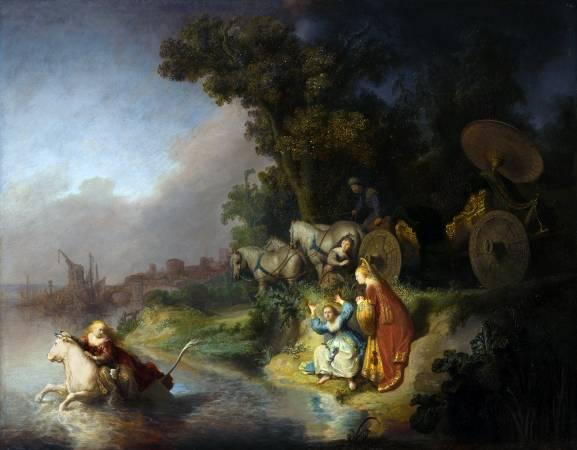 林布蘭,《劫持歐羅巴》。圖/取自wikipedia。
