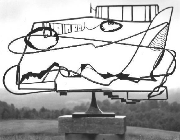 David smith,《hudson river landscape》,1951。圖/取自wikiart。