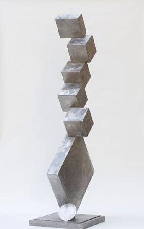 David smith,《cubi i》,1963。圖/取自wikiart。