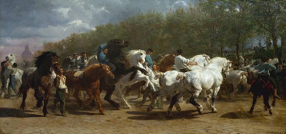 Rosa Bonheur,《The Horse Fair》。圖/取自metmuseum。