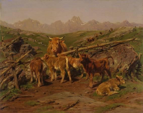 Rosa Bonheur,《Weaning the Calves》。圖/取自維基百科