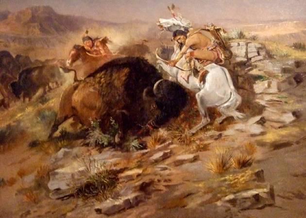 Charles Marion Russell,《Buffalo Hunt》。圖片/取自Wikipedia。