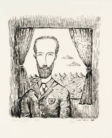 Cecil Collins,《Self-Portrait》,1944。