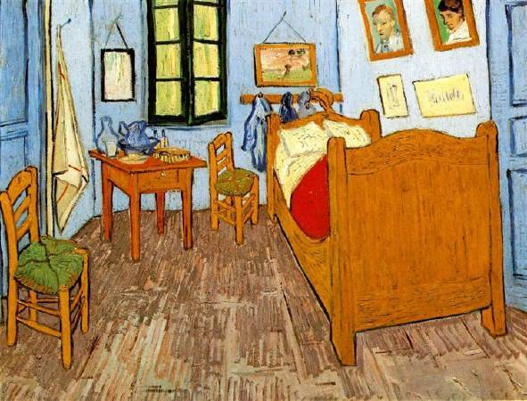 Van Gogh,《vincent's bedroom in arles》,1889。圖/取自wikiart。