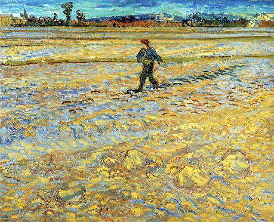 Van Gogh,《sower》,1888。圖/取自wikiart。