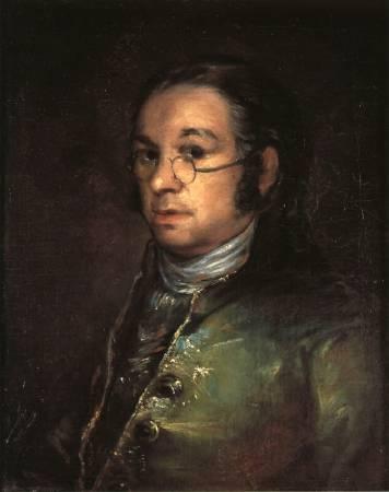 Francisco Goya,《self-portrait》,1801。圖/取自wikiart。