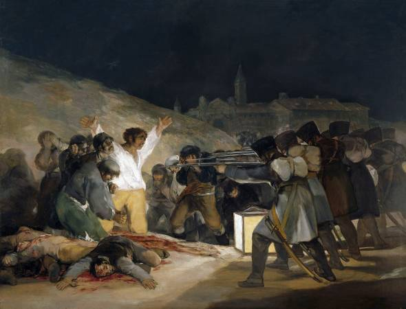 Francisco Goya,《The Third of May》, 1808 (Execution of the Defenders of Madrid) ,1814。圖/取自wikiart。