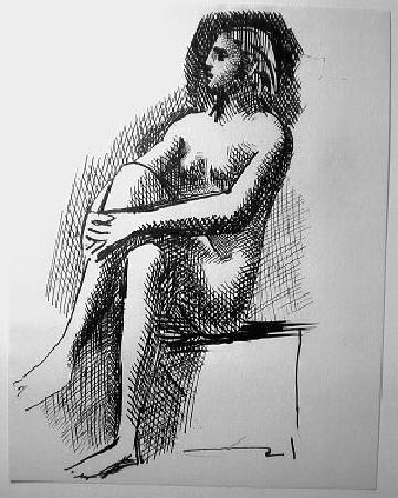 畢卡索《坐著的裸女》。圖/取自The Telegraph。