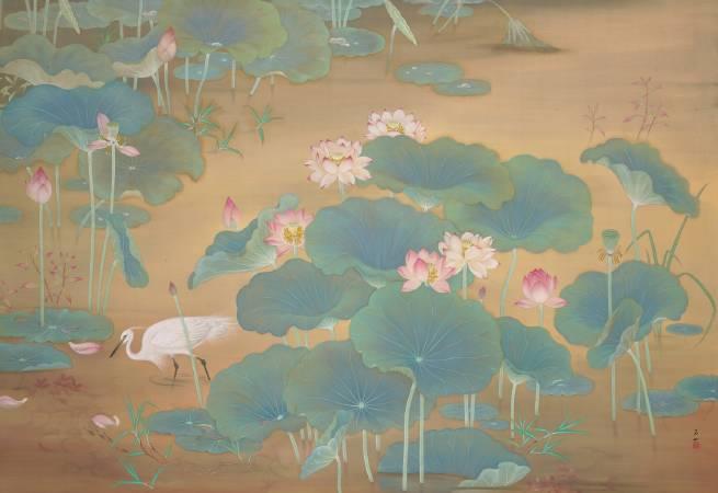 林玉山,《蓮池》,圖/取自國美館