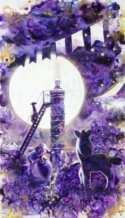 林葆靈,《夜的幻想曲 IV》,2015。圖/穎川畫廊提供。