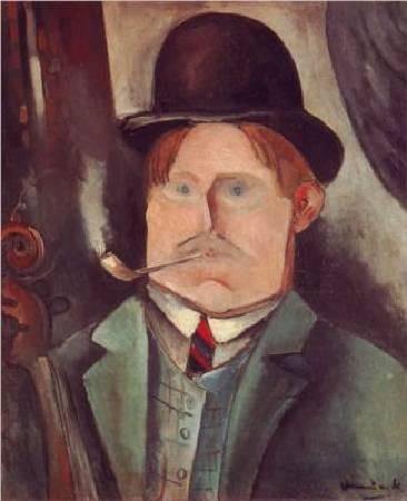 烏拉曼克,《自畫像》,圖/取wikiart。