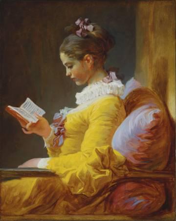 福拉戈納爾,《閱讀的少女》,圖/取自wikiart。