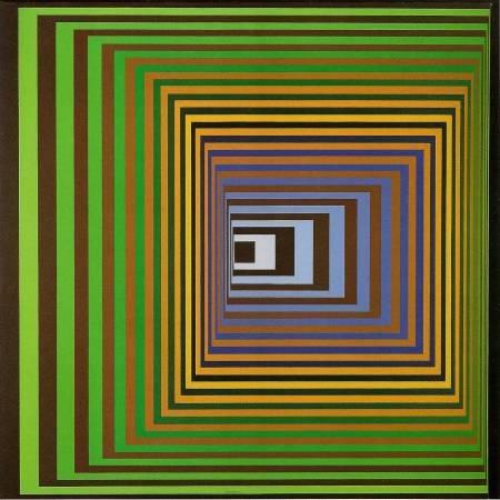 Victor Vasarely,《Vonal Stri 》,1975。圖/取自wikiart。