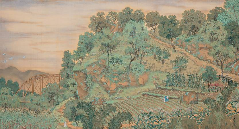 郭雪湖,《圓山附近》,1928。圖/取自臺北市立美術館。