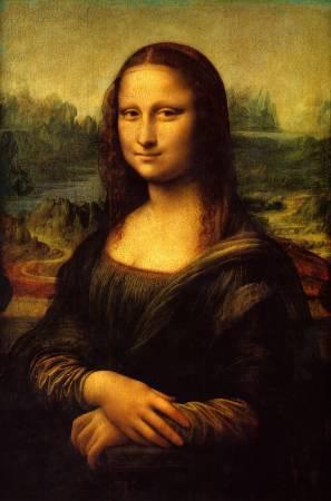達文西,《蒙娜麗莎》。