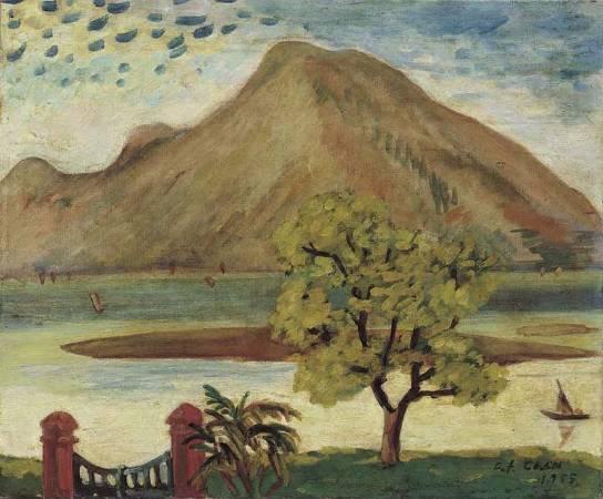 陳清汾,《歸帆》,1955。