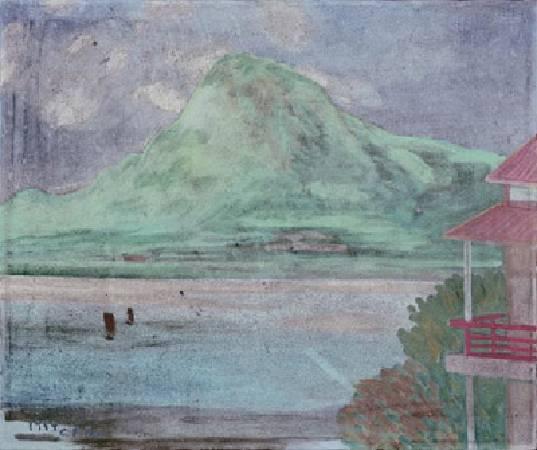 陳清汾,《淡水風光》,1964。
