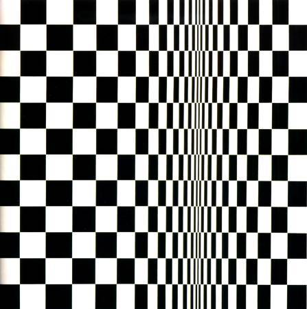 Bridget Riley,《Movement in Squares》,1961。