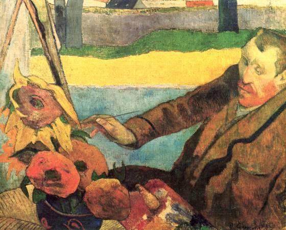 高更《畫向日葵的畫家》。圖取自Wikipedia。