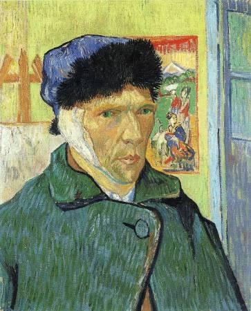 梵谷《割耳後自畫像》。圖取自Wiki Art。