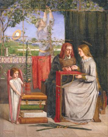 Dante Gabriel Rossetti,《The Girlhood of Mary Virgin》。