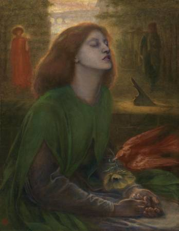Dante Gabriel Rossetti,《Beata Beatrix》。