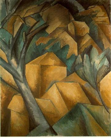 Georges Braque,《Houses at Estaque》,1908。