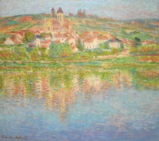 莫內《維圖伊塞納河》。