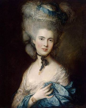 Thomas Gainsborough,《 Portrait of a Lady in Blue》,late 1770s - early 1780s。