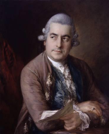 Thomas Gainsborough,《Johann Christian Bach》,1776。圖/取自Wikipedia。