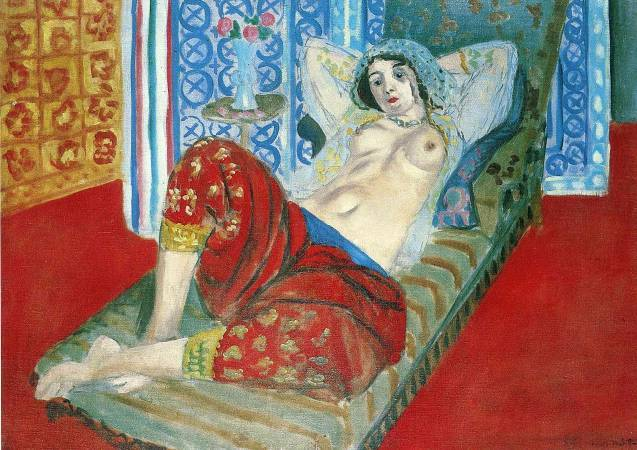 馬諦斯《穿紅褲裙的波斯宮女》。圖/取自Wiki Art。