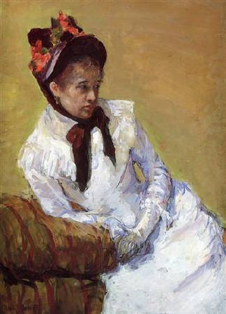 Mary Cassatt,《Portrait of The Artist》,1878。