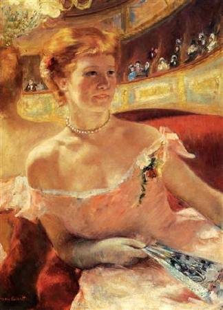 Mary Cassatt,《Woman with a Pearl Necklace》,1879。