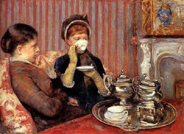 Mary Cassatt,《The Tea》,1879-80。