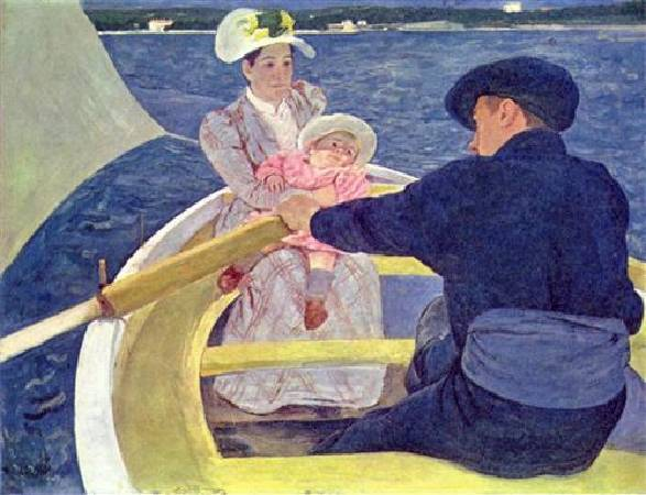 Mary Cassatt,《The Boating Party》,1893-94。