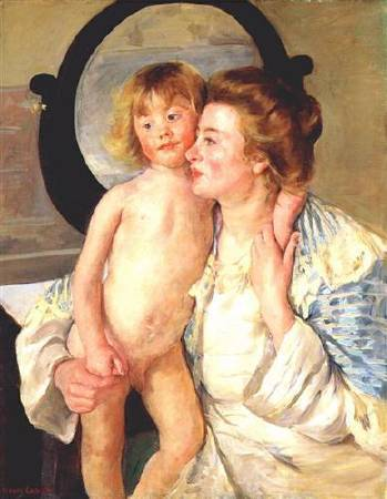 Mary Cassatt,《Mother and Child》,1898。