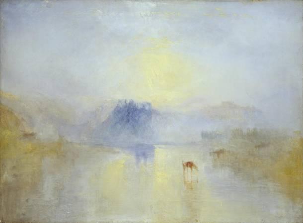 透納《諾漢姆城堡的日出》。圖/取自Tate。