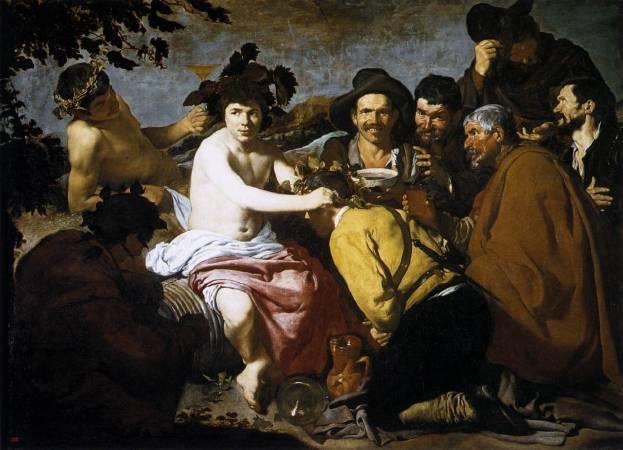 Diego Velázquez,《The Triumph of Bacchus 》,1629。